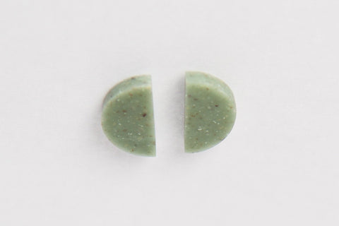 Corian Half Circle Vertical Earrings  - Jade