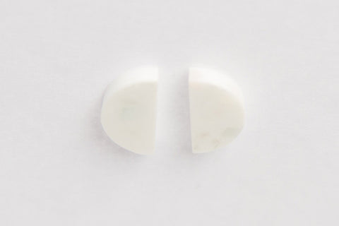 Corian Half Circle Vertical Earrings  - Winter