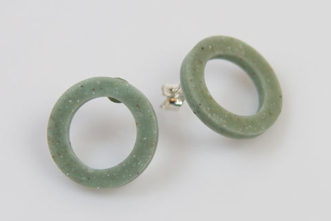 Corian Open Circle Earrings - Jade