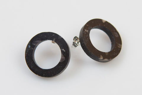 Corian Open Circle Earrings - Midnight