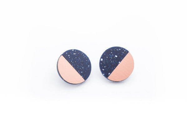 Corian Sector Earrings  - Cobalt