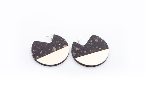 Corian Segment Earrings  - Midnight