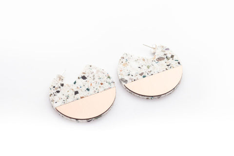 Corian Segment Earrings  - Terrazzo