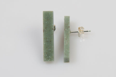 Corian Stick Earrings - Jade