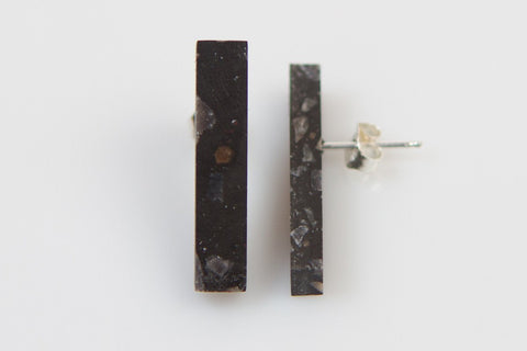 Corian Stick Earrings - Midnight