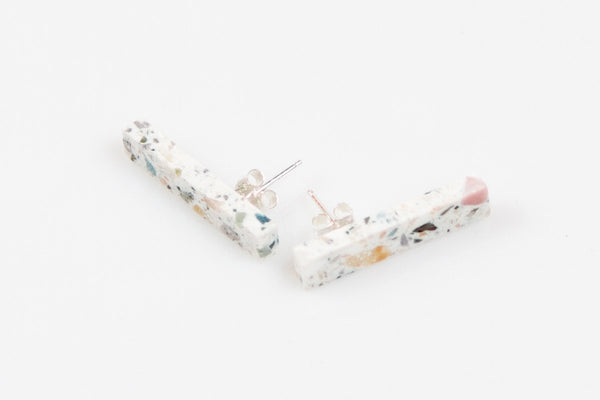 Corian Stick Earrings - Terrazzo