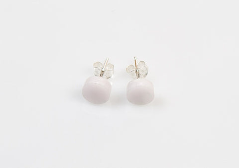 Corian Small Stud Circle Earrings - Blush