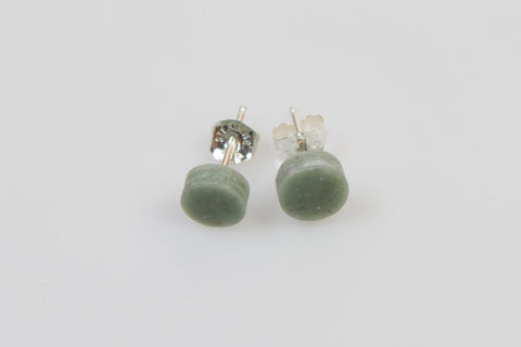 Corian Small Stud Circle Earrings - Jade