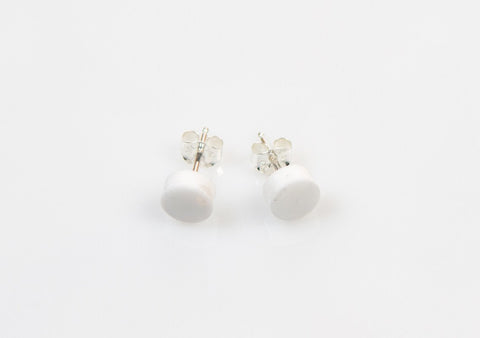 Corian Small Stud Circle Earrings - Winter