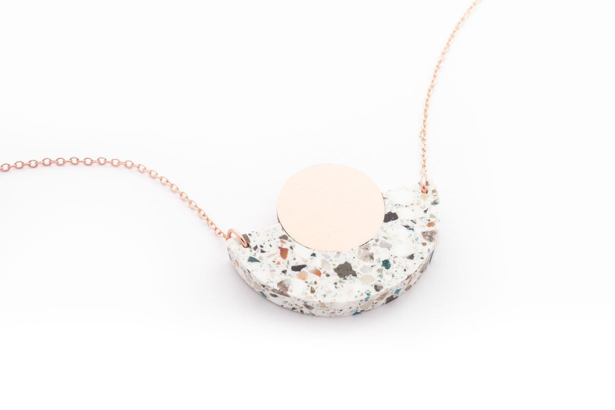 Corian Arc Circle Necklace
