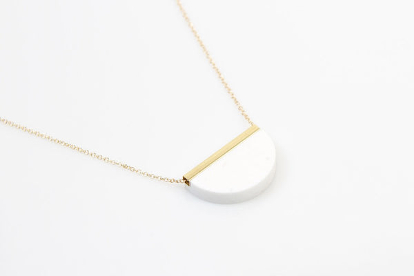 Corian Half Circle Necklace - Winter