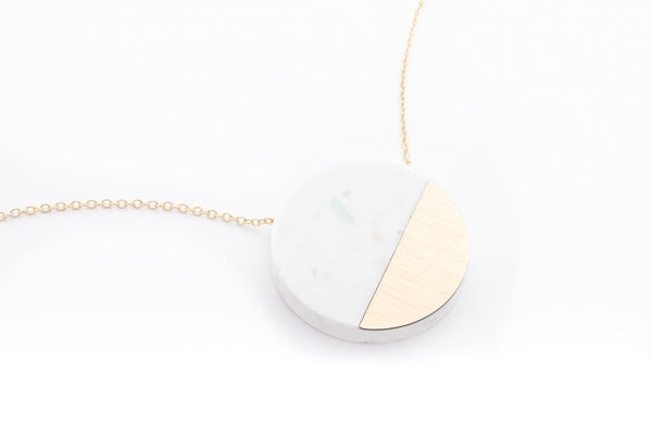 Corian Sector Necklace - Winter