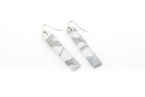 Connection Silver Earrings - Long