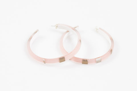Electra Rose Hoop Earrings - Large