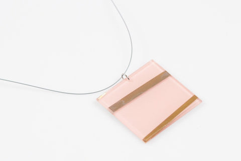 Electra Rose Necklace - Lrg Square