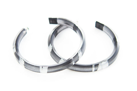 Electra Silver Hoop Earrings - Large