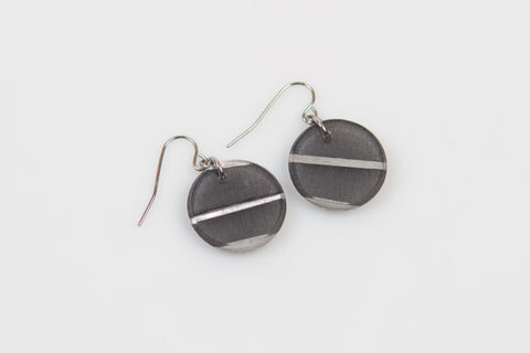 Electra Silver Earrings - Circle