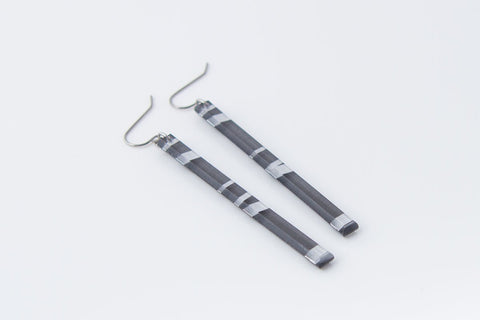 Electra Silver Earrings - Skinny