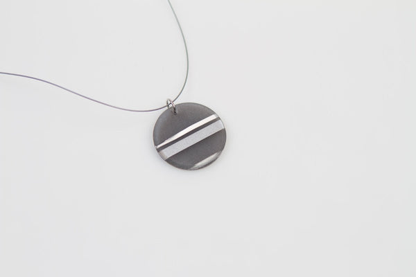 Electra Silver Necklace - Circle