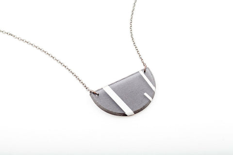 Electra Silver Necklace - Half Circle