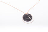 Fossil Leaf Indigo Necklace - Double Circle
