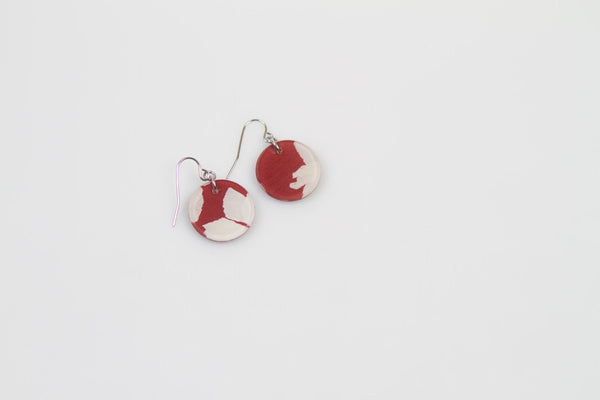 Fleur Marsala Earrings - Circle