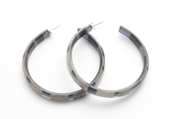 Fray Smoke Hoop Earrings - Large