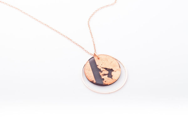 Gild Copper Necklace - Double Circle