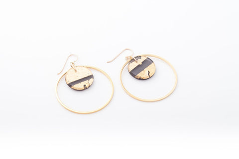 Gild Gold Earrings - Double Circle