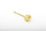 Gild Gold White Bobby Pin