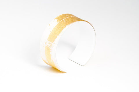 Gild Gold White Cuff - Narrow