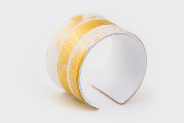 Gild Gold White Cuff - Wide