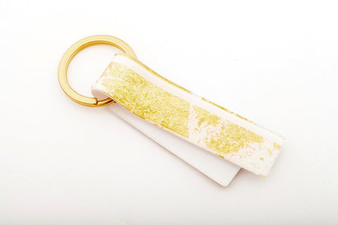 Gild Gold White Key Chain