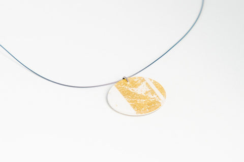 Gild Gold White Necklace - Circle