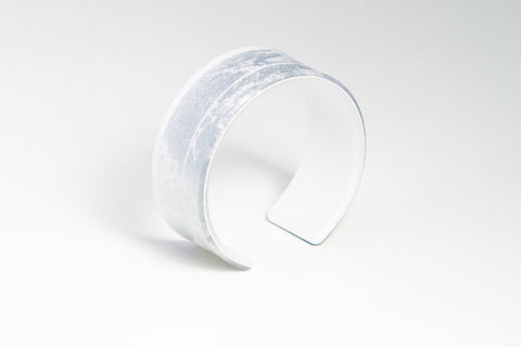 Gild Silver White Cuff - Narrow