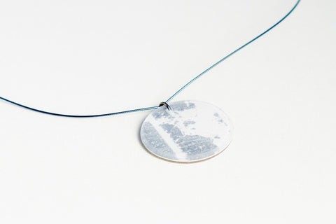 Gild Silver White Necklace - Circle