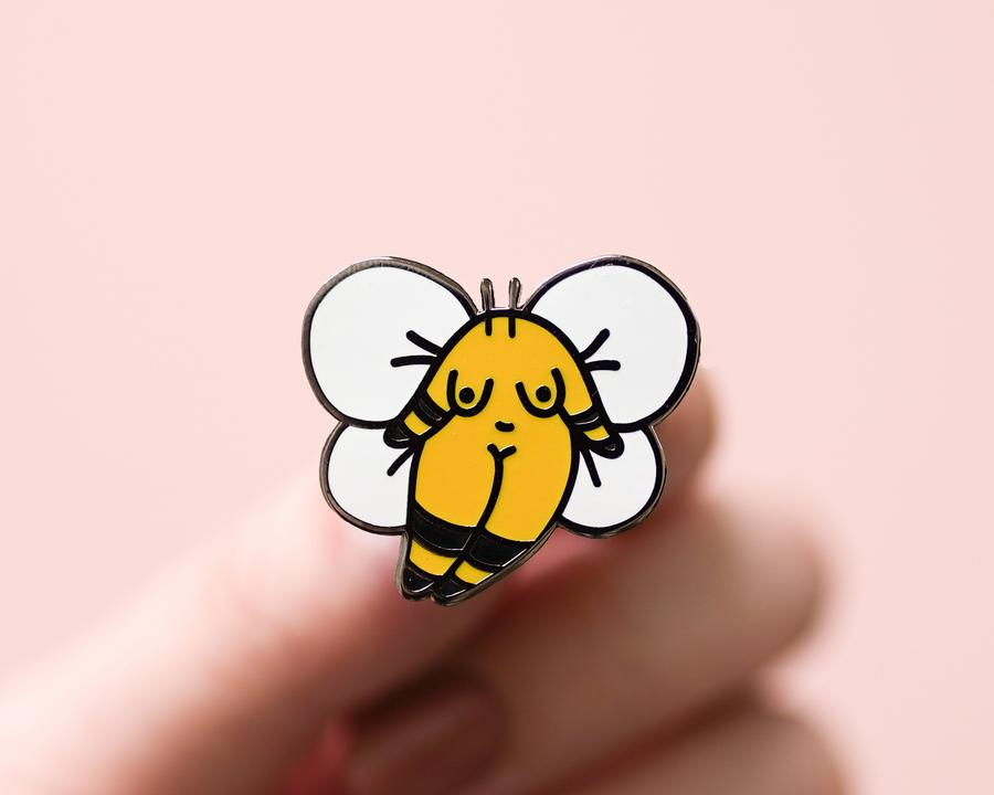 Bumble Bee Girl Enamel Pin
