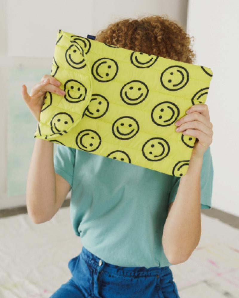 Happy -Puffy Laptop Sleeve 16""