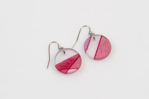 Mirage Claret Earrings - Circle