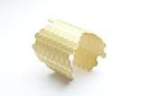Pure Gold Honeycomb Cuff - Wide