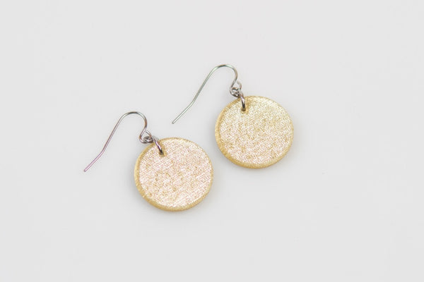 Pure Gold Earrings - Circle