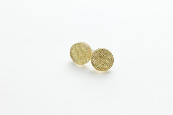 Pure Gold Stud Earrings - Circle