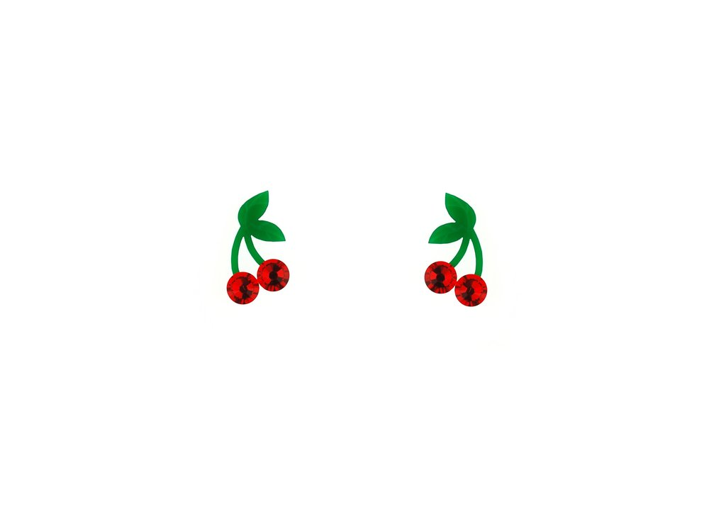 Acrylic Cherry Earrings