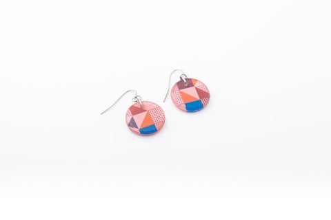 Rose Pop Earrings - Circle