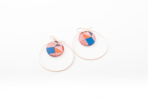 Rose Pop Earrings - Double Circle