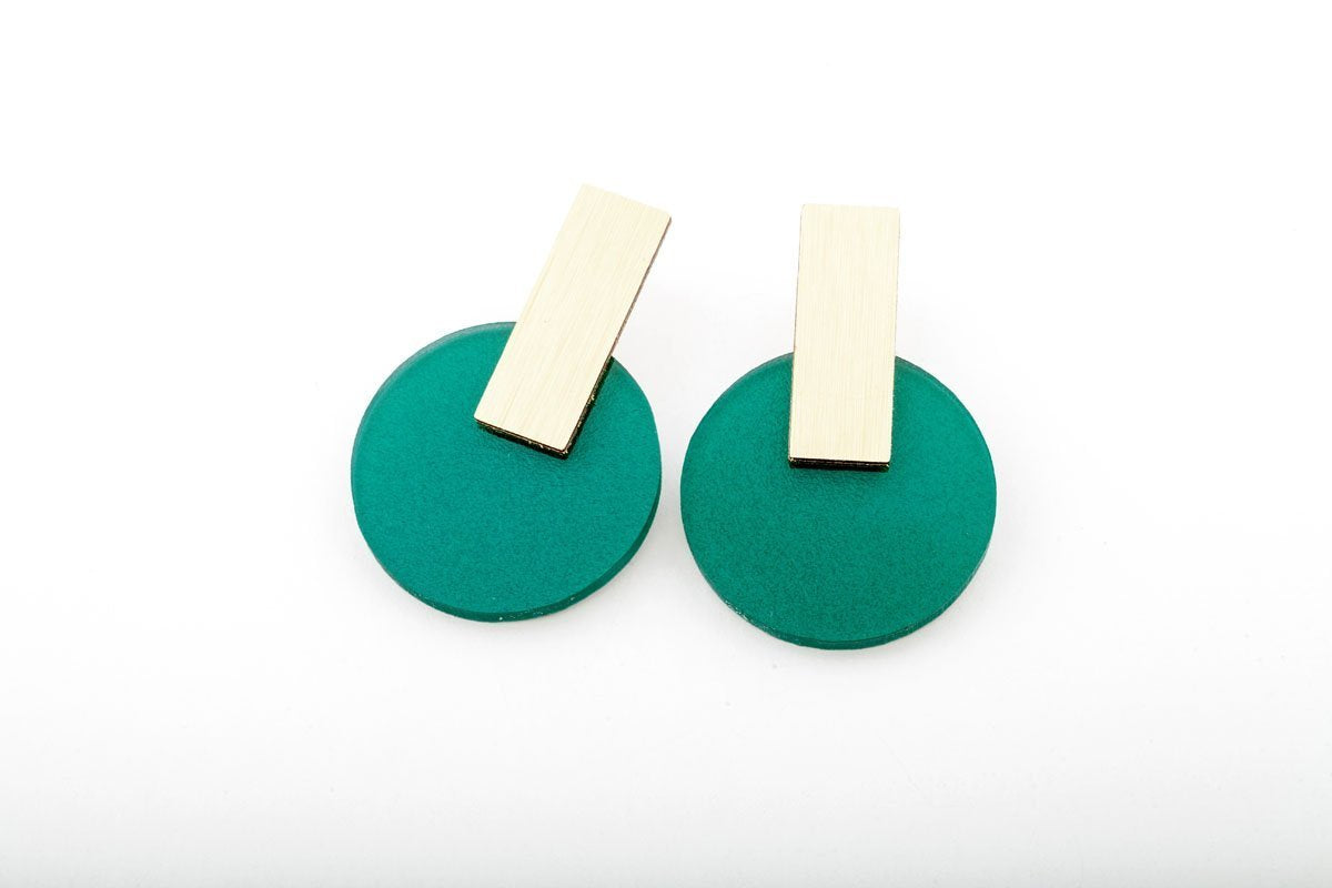 Ecoresin Earrings - Billy