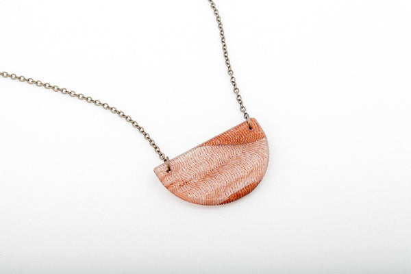Swept Copper Necklace - Half Circle