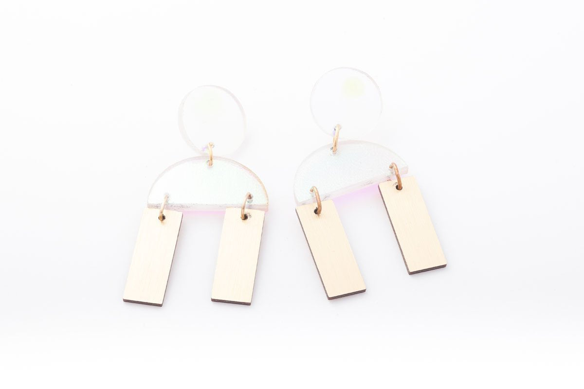 Ecoresin Earrings - Cindy