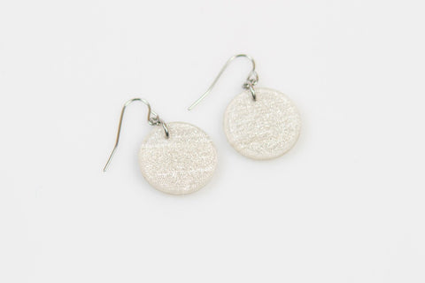 Swept Silver Earrings - Circle