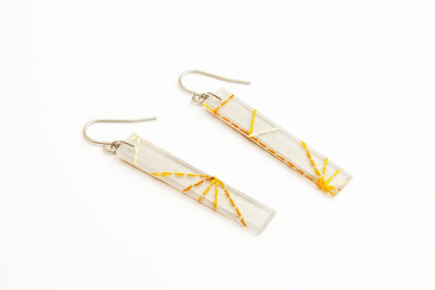 Starcrossed Titanium Earrings - Long